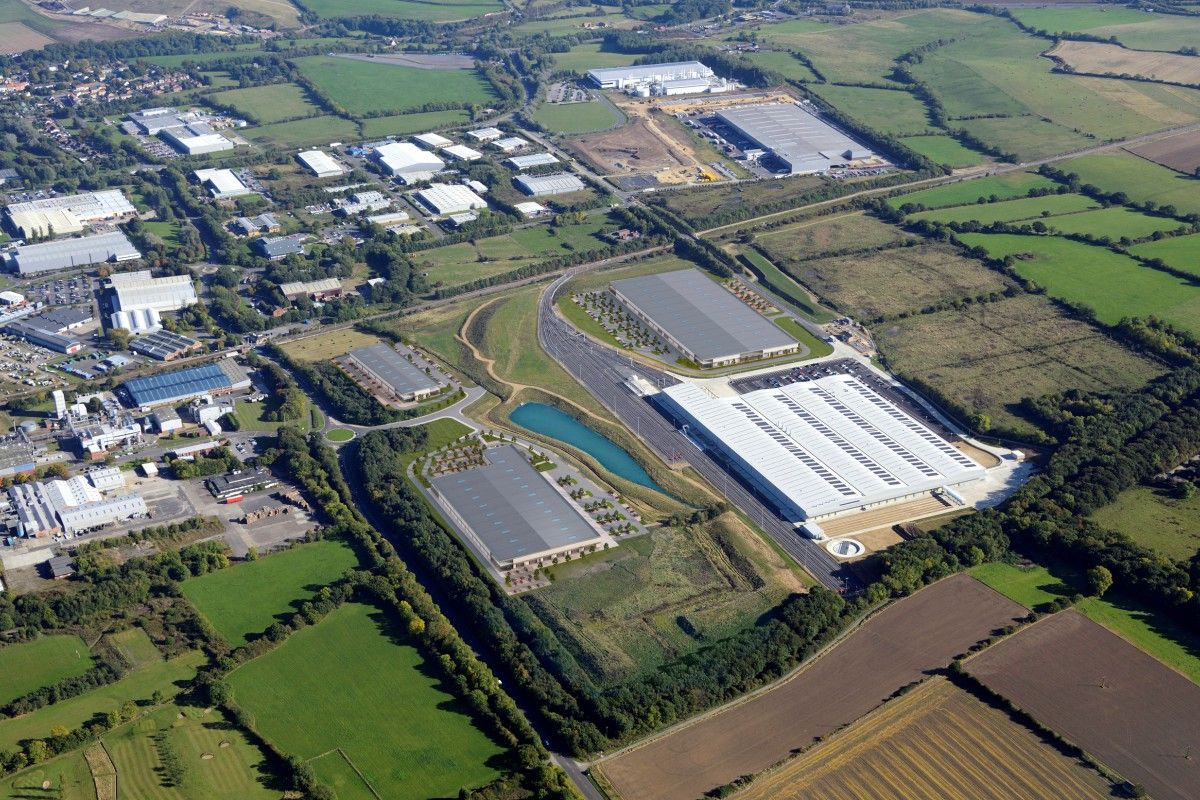 Merchant Park Newton Aycliffe Aerial CGI