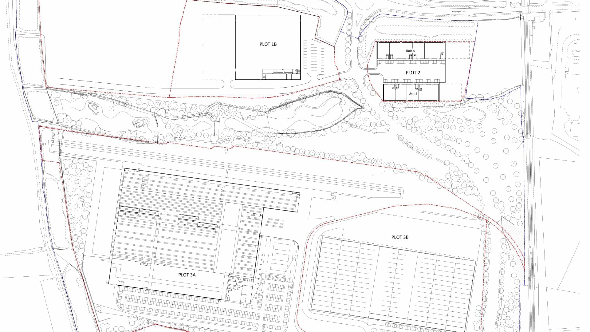 Merchant Park Newton Aycliffe Masterplan Drawing